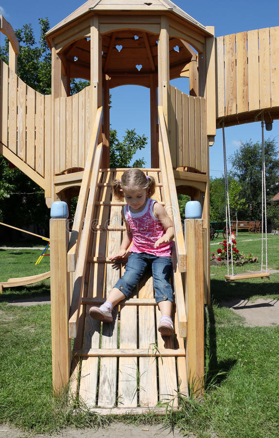 Download Little Girl Fun On Playground Stock Photo - Image of playful, happy: 21259022