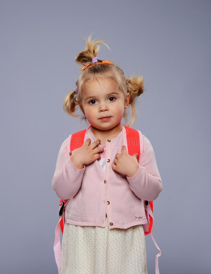 Download Little girl stock photo. Image of beautiful, expression - 34644706