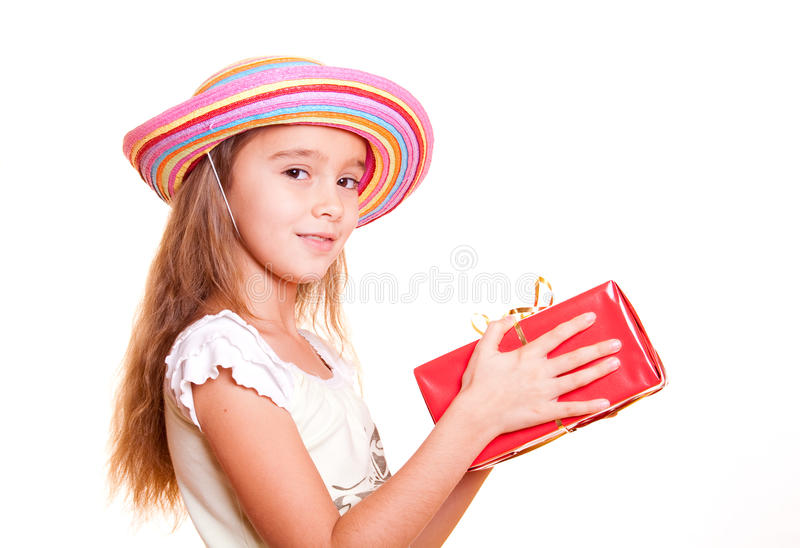Download Little Girl And Gift Stock Images - Image: 13036054