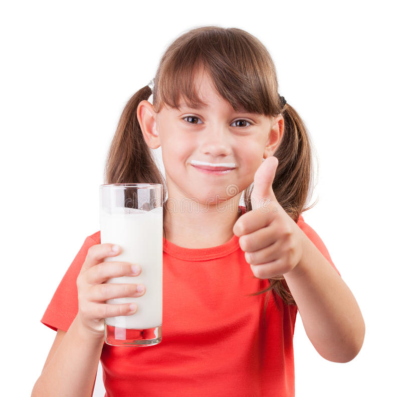 Download Little Girl With A Glass Of Milk Stock Photo - Image: 27207168