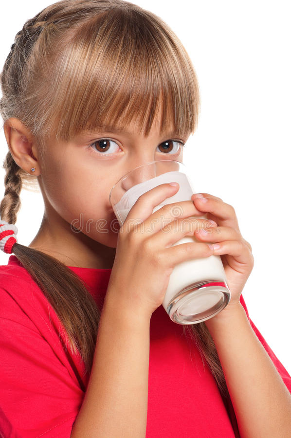 Download Little Girl With Glass Of Milk Stock Image - Image: 27284049