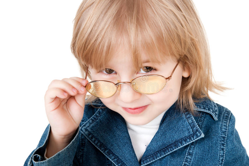Little Girl In Glasses Stock Images