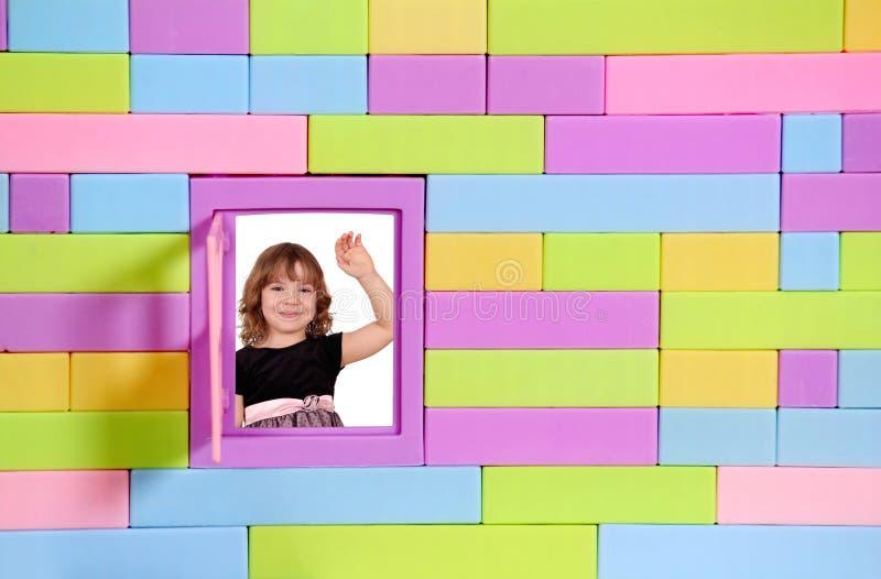 Little Girl Greeting Stock Image
