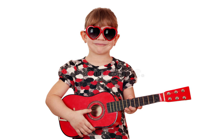 Download Little girl with guitar stock image. Image of adorable - 26473987