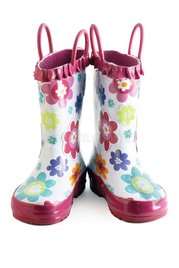Download Little girl gumboots stock photo. Image of child, flower - 18731418