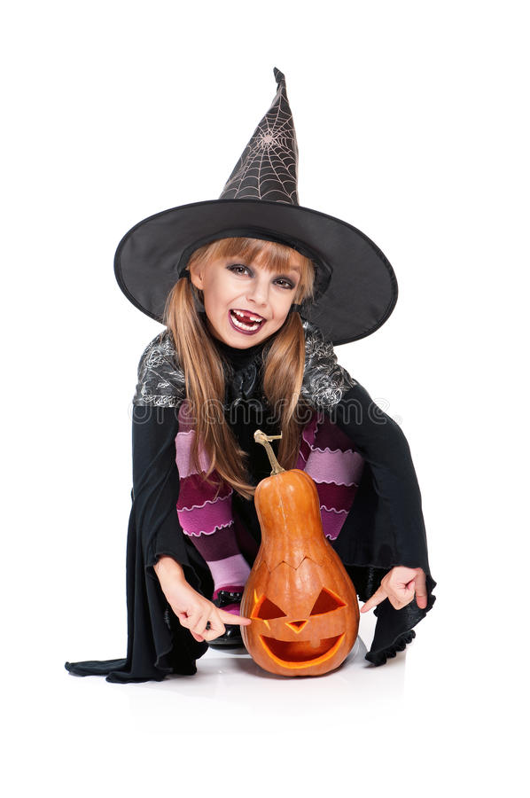 Download Little Girl In Halloween Costume Stock Photo - Image: 29315958
