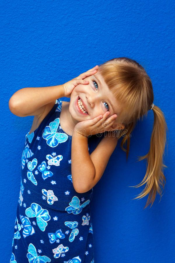 Free Little Girl Hands On Face Head Tilted Royalty Free Stock Images - 111959909