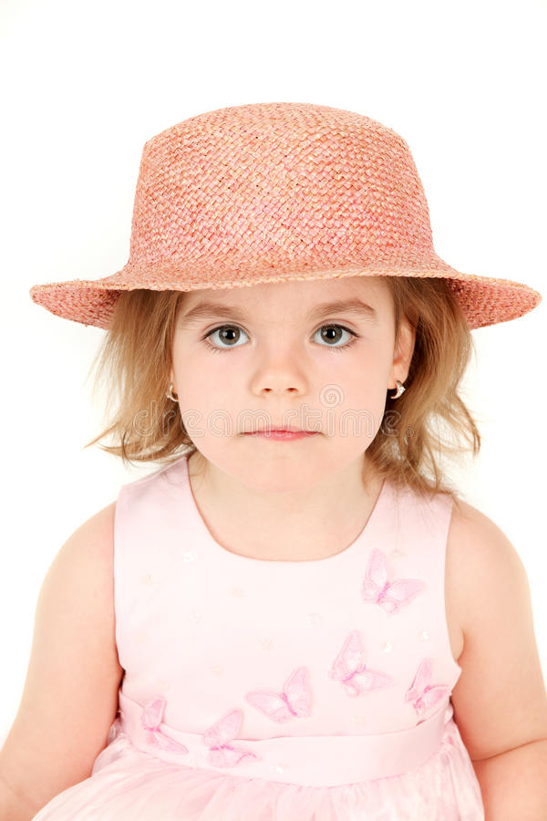 Download Little girl in hat stock image. Image of child, vertical - 11310571
