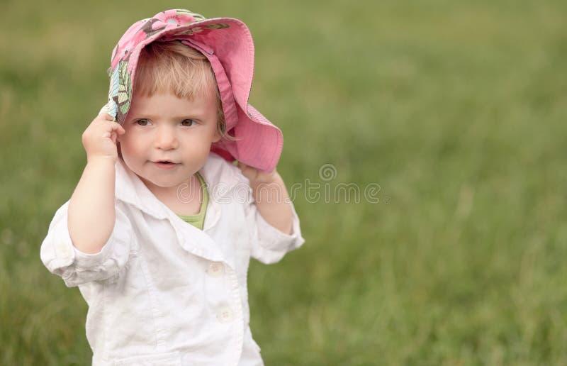 Little Girl In Hat Stock Photo