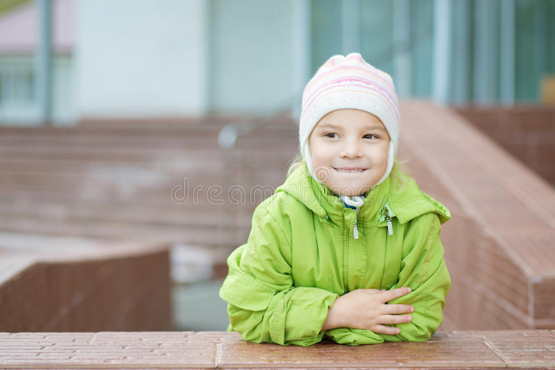 Download Little Girl In Hat And Jacket Stock Photo - Image: 31217050