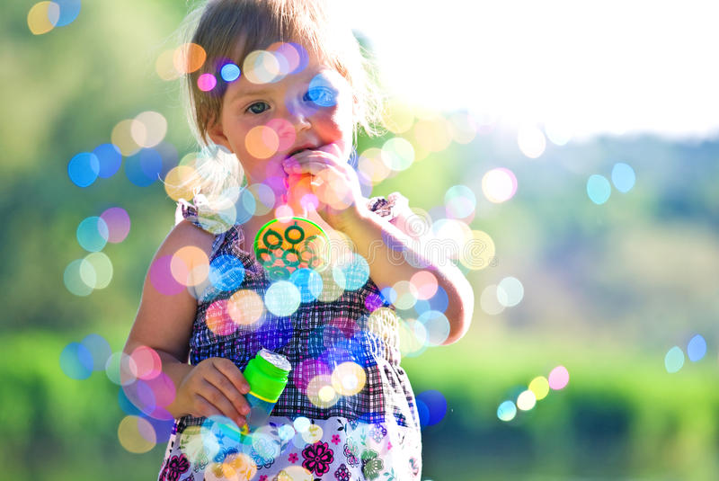 Download Little girl have fun stock image. Image of innocence - 25914731