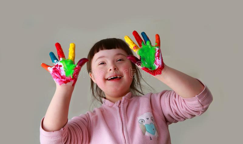 Little girl have fun royalty free stock images