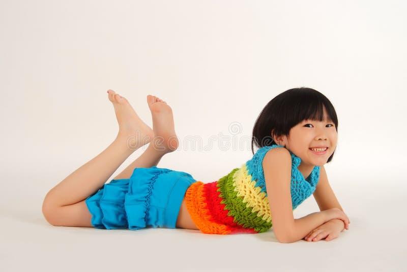 Little girl is having fun royalty free stock image