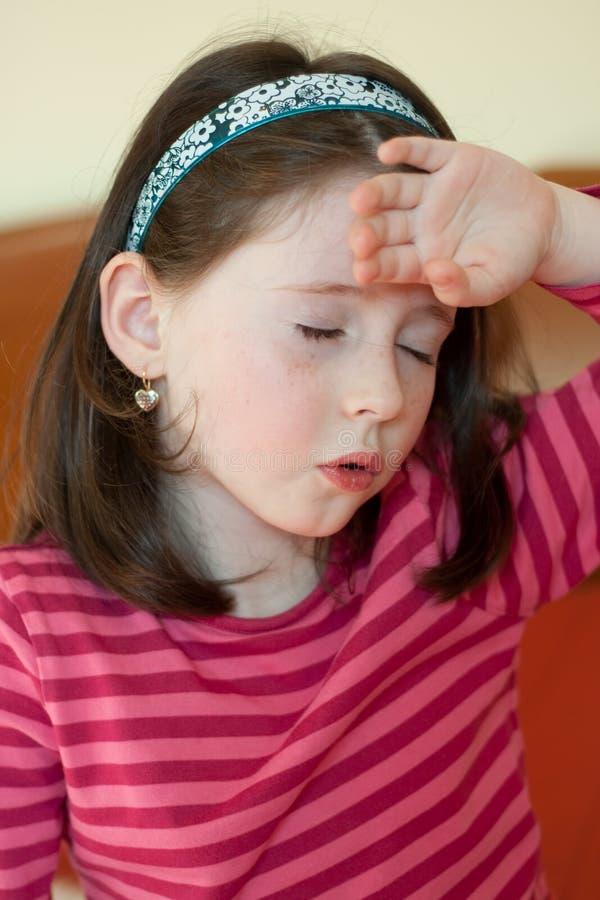 Little Girl With Headache Stock Photos