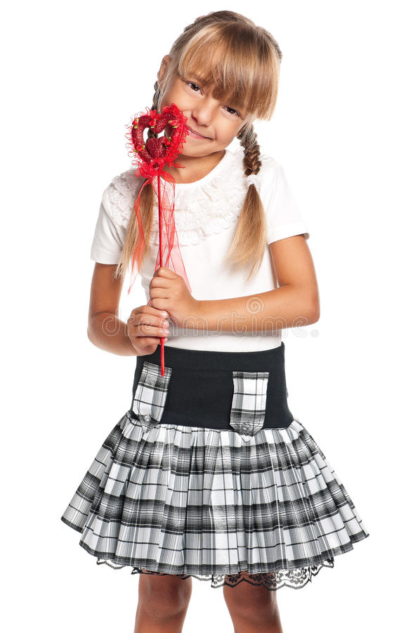 Download Little girl with heart stock image. Image of love, cheerful - 29315987