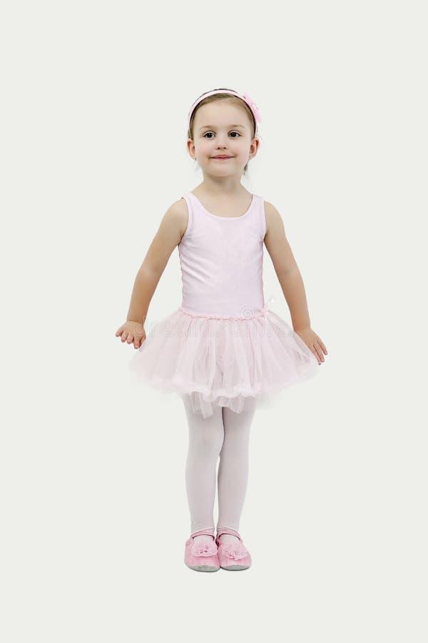 Little girl in her ballet costume stock image