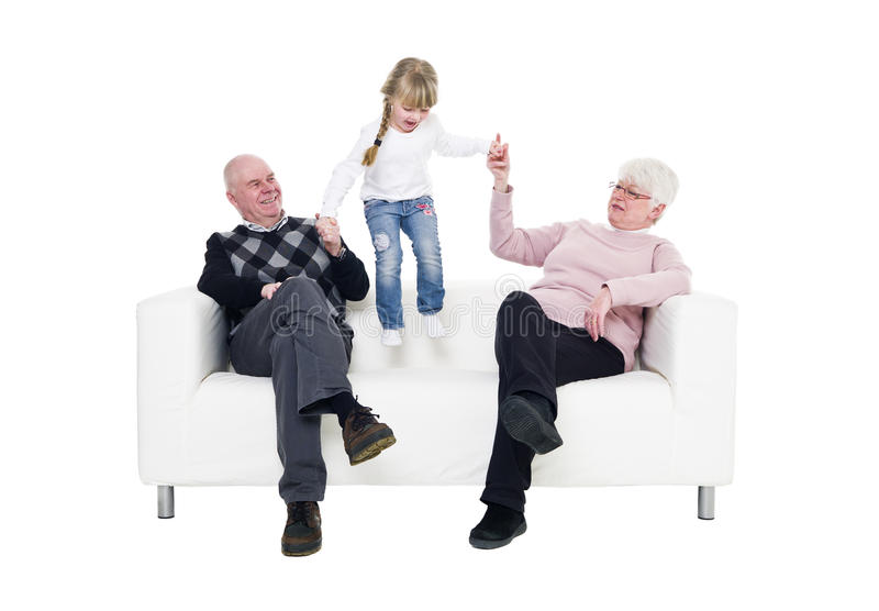 Little Girl with her grandparents