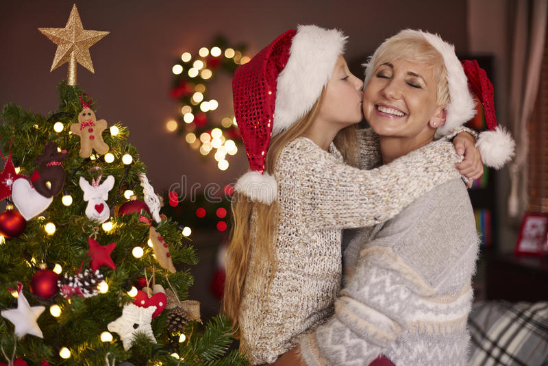 Little girl with her mom stock photography