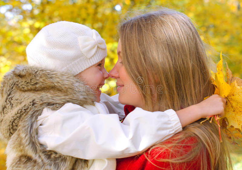 Little Girl And Her Mother Royalty Free Stock Photography