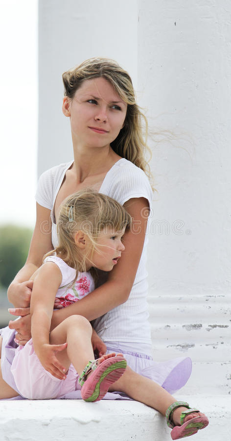 Download Little Girl With Her Mother Outdoors Stock Photo - Image: 28949070
