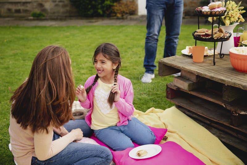 Enjoying a Garden Party stock photo