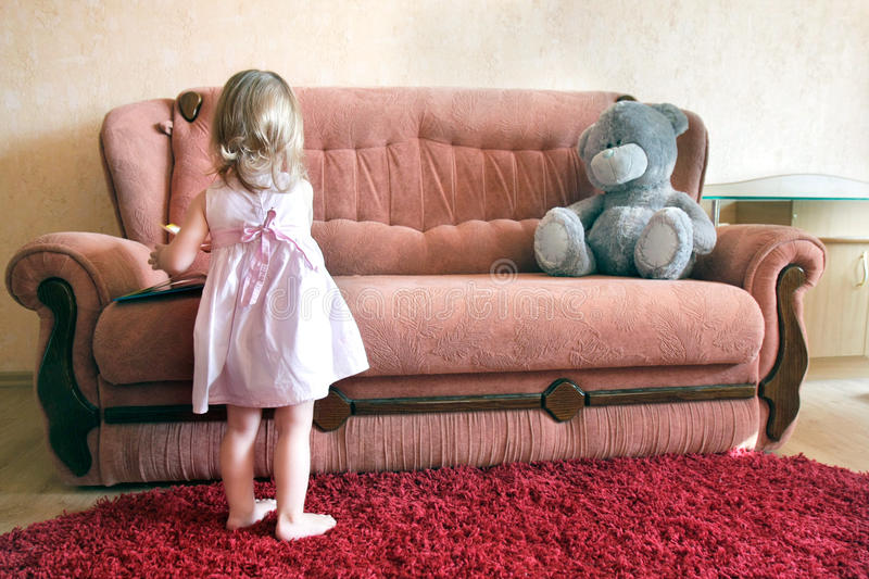 Download Little girl in her room stock photo. Image of cute, beautiful - 16566648