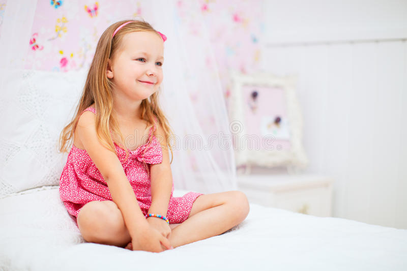 Download Little girl in her room stock photo. Image of human, little - 34357220