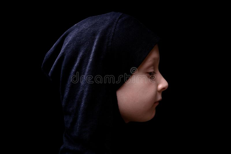 Little girl in hijab. royalty free stock photography