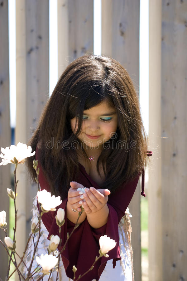 Download Little girl holding flower stock photo. Image of latin - 9673878