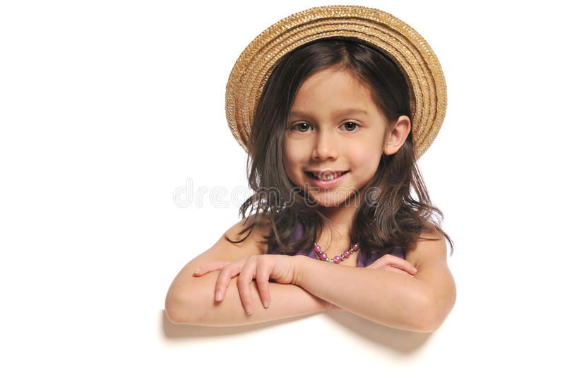 Little Girl holding a sign royalty free stock images
