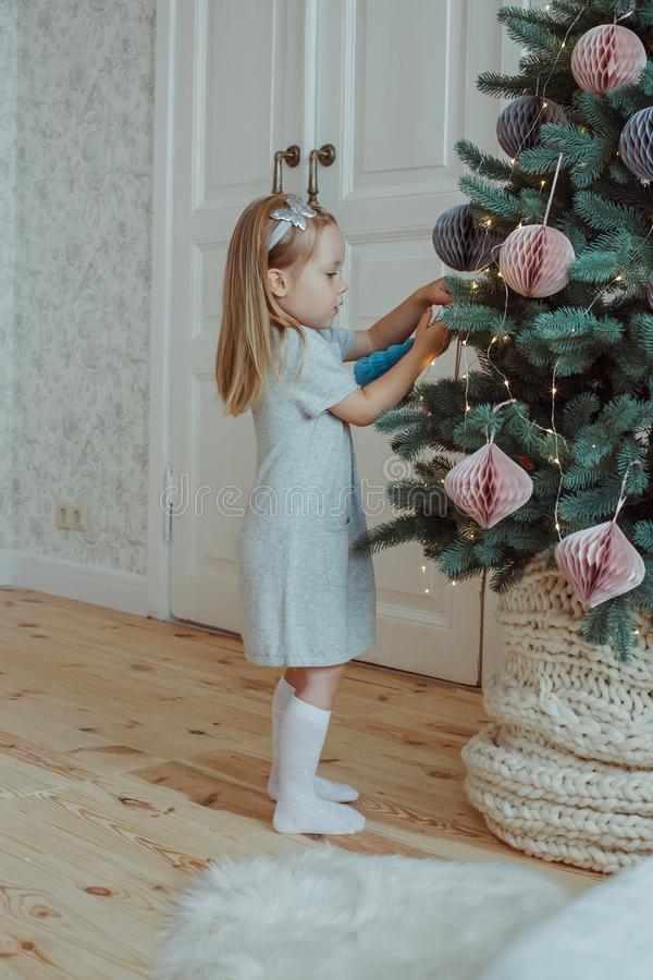 Little girl at home royalty free stock photography