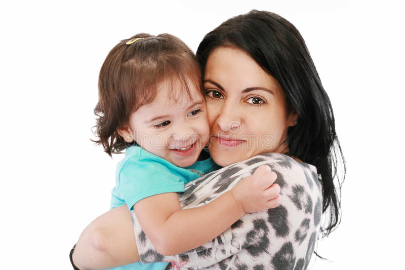 Little girl hugging to mother royalty free stock photos
