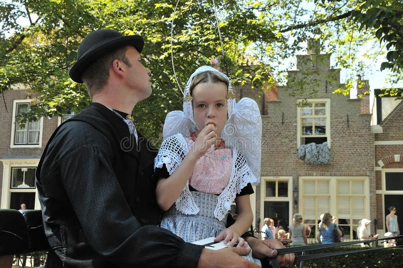 Little girl with an icecream. Veere, The Netherlands royalty free stock photos