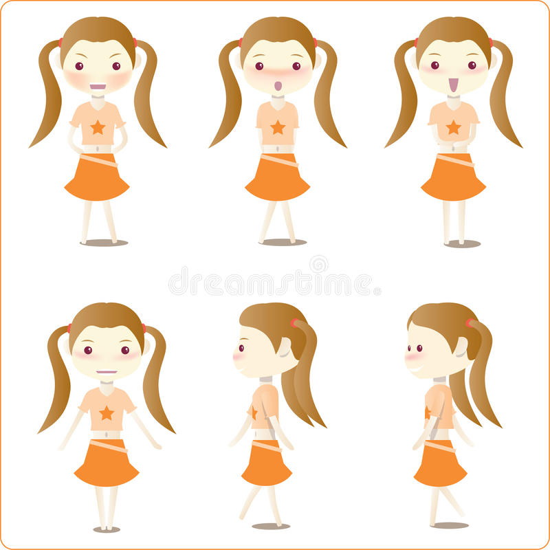 Download Little girl illustrations stock vector. Image of graphics - 10508506