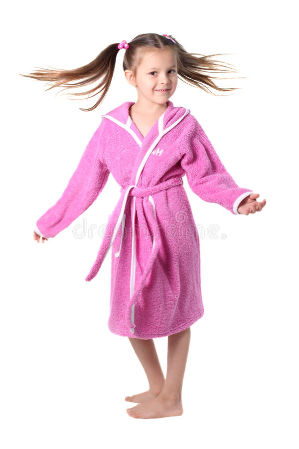 Free Little Girl In Dressing Gown Stock Photos - 13366543