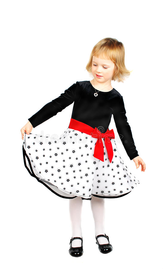 Free Little Girl In New Dress.portrait Royalty Free Stock Photos - 12261508
