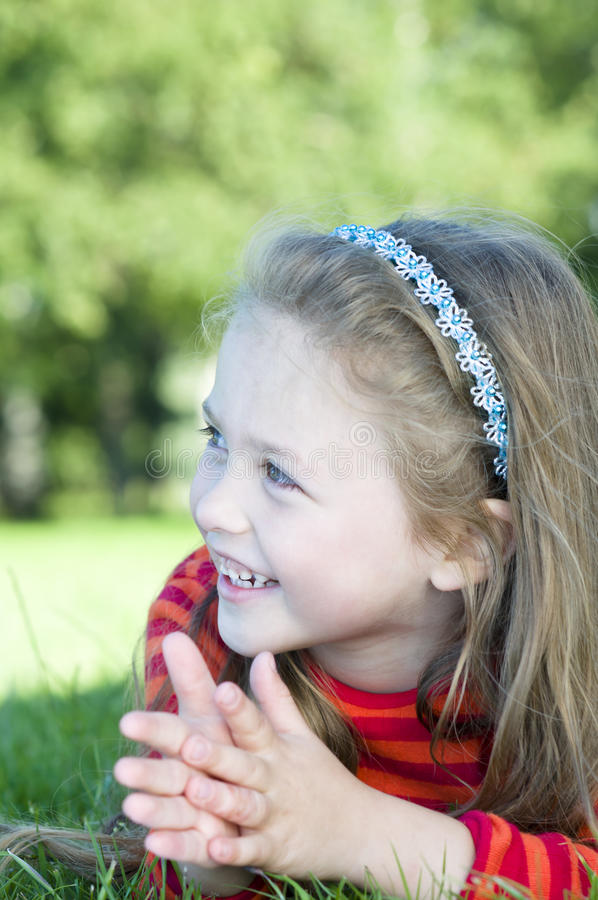 Free Little Girl In The Park Stock Photos - 21064873
