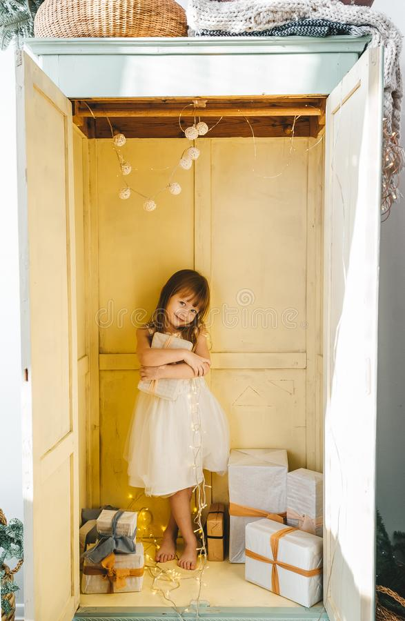 Free Little Girl In Wardrobe Royalty Free Stock Images - 168032659