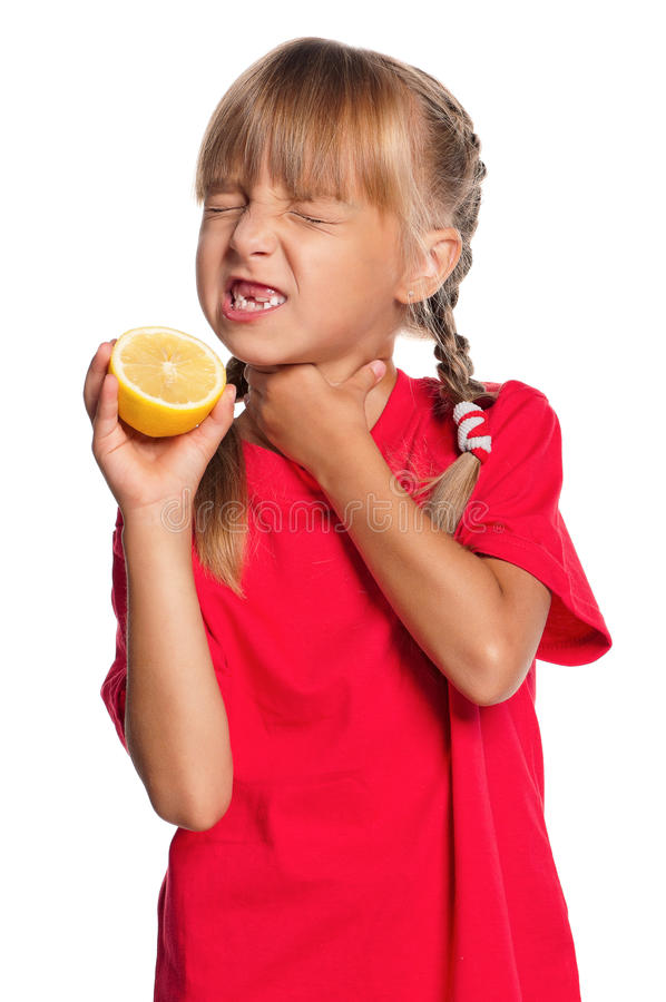 Download Little Girl With Lemon Royalty Free Stock Photos - Image: 26906138