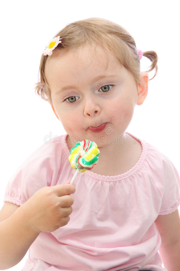 Download Little girl with lollipop stock image. Image of sugar - 11062767