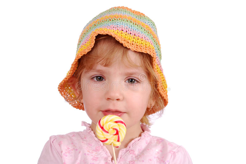 Download Little Girl With Lollipop Stock Photo - Image: 13280500