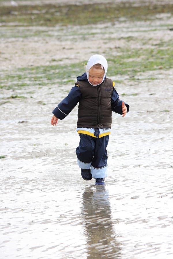 Download Little Girl On Low Tide Tideland Stock Images - Image: 11451374