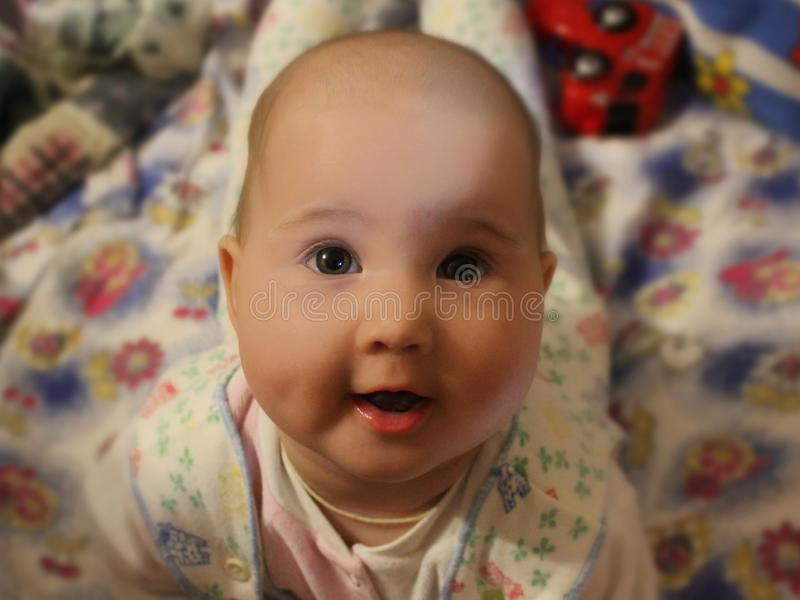 Portrait of a beautiful baby royalty free stock photography