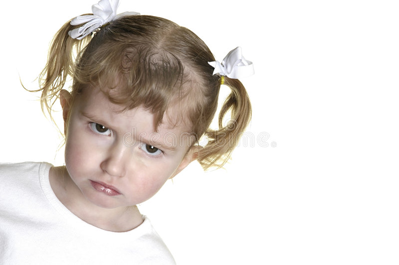 Download Little Girl Making Faces 12 Stock Image - Image: 1883463
