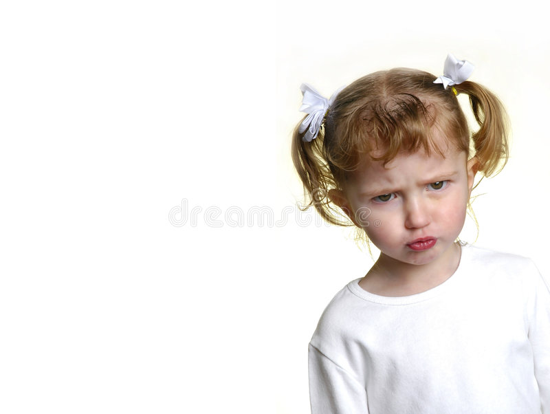 Download Little Girl Making Faces 15 Royalty Free Stock Photography - Image: 1883477