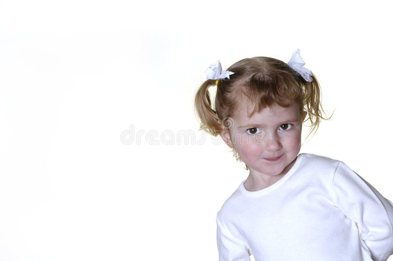 Little Girl Making Faces Royalty Free Stock Photography