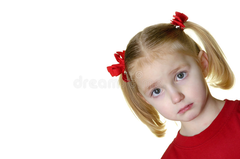 Little Girl Making Faces II 12 royalty free stock image