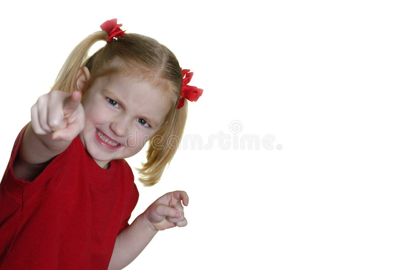 Little Girl Making Faces II 5 royalty free stock photos