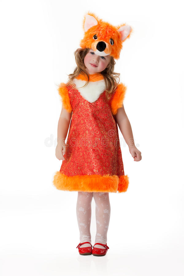 Little Girl In Masquerade Clothing stock photography