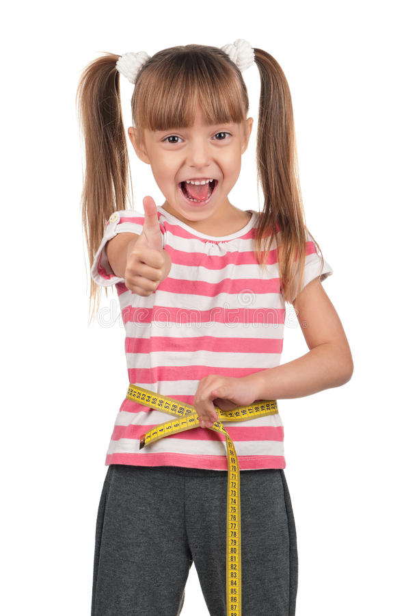 Download Little girl with measure stock image. Image of cute, measure - 22906185